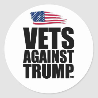Round Sticker - Vets Against Trump
