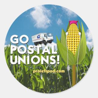 Round Stickers (6/pg) - Go Postal Unions!