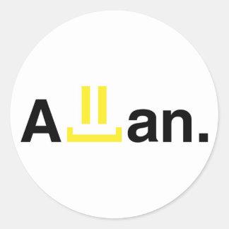 Round stickers: Allan
