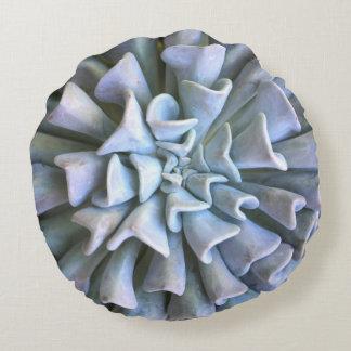 Round Succulent Throw Pillow