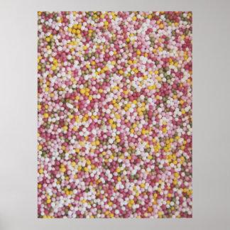 Round Sugar Sprinkles Posters