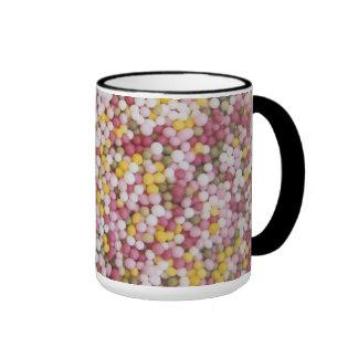 Round Sugar Sprinkles Ringer Mug