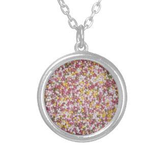 Round Sugar Sprinkles Round Pendant Necklace