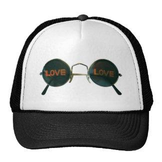 Round Sunglasses Trucker Hat