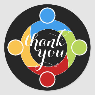 Round Support Teamwork Thank You Sticker