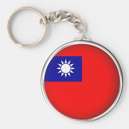 Round Taiwan Basic Round Button Key Ring