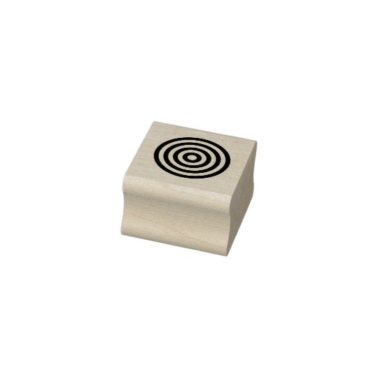 Round Target 1 Inch Square Ink Stamp