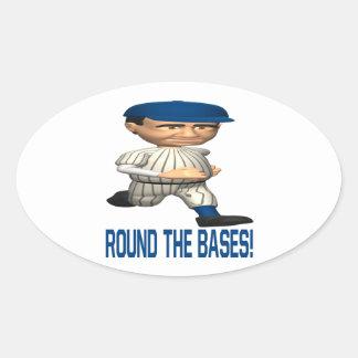 Round The Bases Sticker