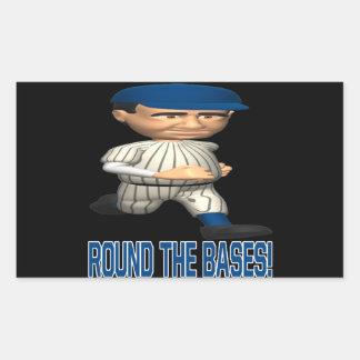Round The Bases Rectangular Sticker