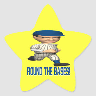 Round The Bases Star Sticker