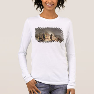 Round the Camp Fire (colour litho) Long Sleeve T-Shirt