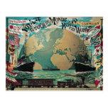 Round The World Voyage Vintage Poster Art