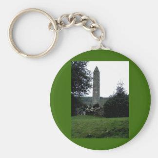Round tower,Glendalough,Co.Wicklow,Ireland Key Ring