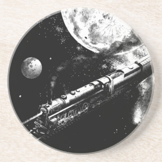 Round Trip To The Moon Sandstone Coasters