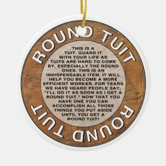 Round Tuit Double-Sided Ceramic Round Christmas Ornament