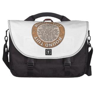 Round Tuit Laptop Messenger Bag