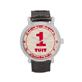 Round Tuit Vintage Black Strap Watch
