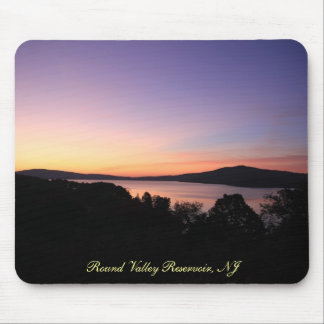 Round Valley Reservoir mousepad w/text
