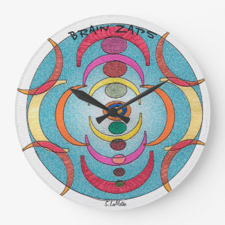 Round Wall Clock - Brain Zaps