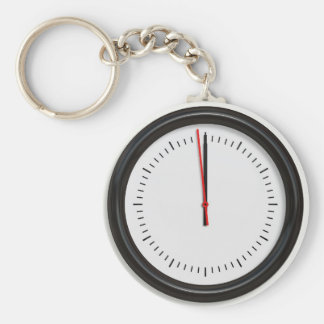 Round Wall Clock Key Chains
