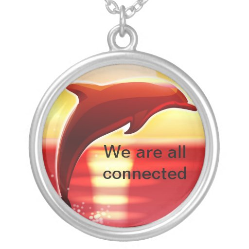 Round We are all connected necklace