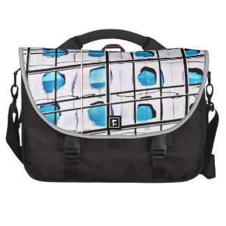 Round Windows in Blue Laptop/Commuter Bag