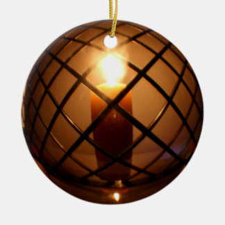 Round Wire and Candle Ornament