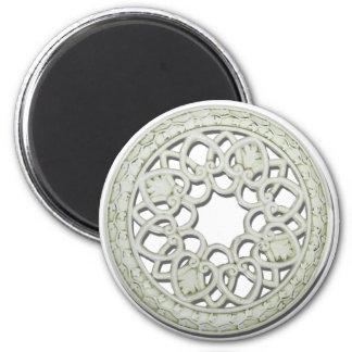 RoundDecorativeTile112810 6 Cm Round Magnet