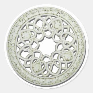 RoundDecorativeTile112810 Classic Round Sticker