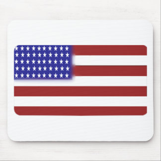 Rounded American Flag Mouse Pad