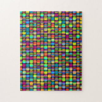 Rounded and Colorful Squares Jigsaw Puzzle
