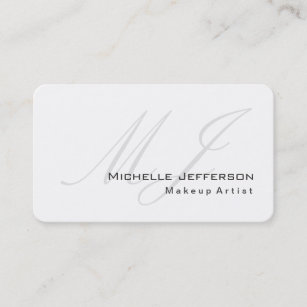 Rounded corners business cards zazzle uk rounded corner makeup artist white business card reheart Choice Image