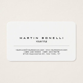 Rounded Corner Modern Professional Business Card