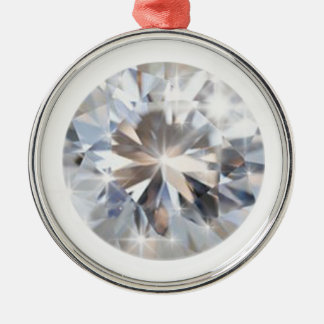 Rounded Crystal Diamond Silver-Colored Round Decoration