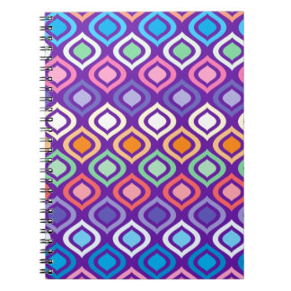 Rounded Diamonds Spiral Note Book