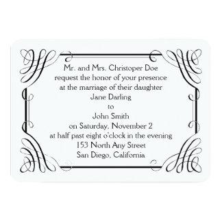 Rounded Edge Matt Wedding Invitation