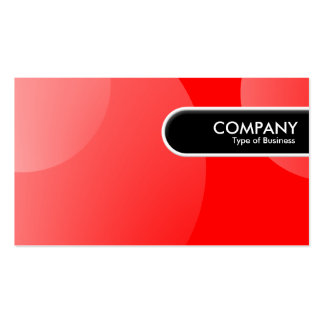 Rounded Edge Tag - Bubble Cloud Red II Pack Of Standard Business Cards