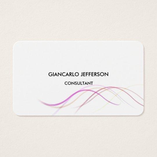 Rounded Elegant Curves Minimalist Professional Business Card