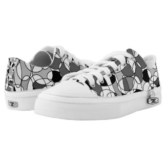 rounded geometric low top sneakers