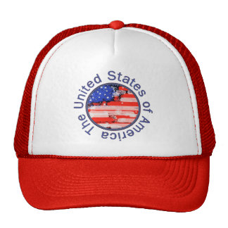 rounded USA flag Cap