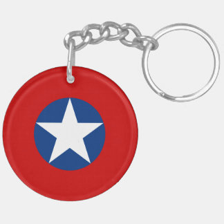 Roundel de Chile Double-Sided Round Acrylic Key Ring