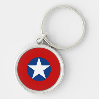 Roundel de Chile Silver-Colored Round Key Ring