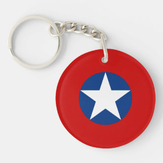 Roundel de Chile Single-Sided Round Acrylic Key Ring