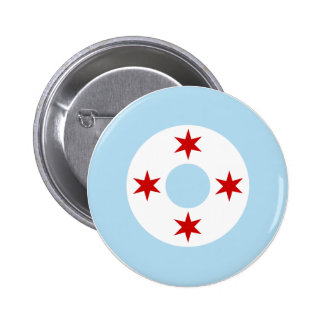 Roundel of the Chicago Air Force (Fighter Wing) 6 Cm Round Badge