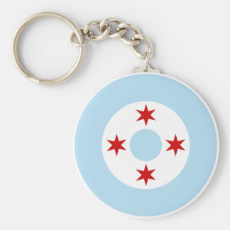 Roundel of the Chicago Air Force (Fighter Wing) Key Ring