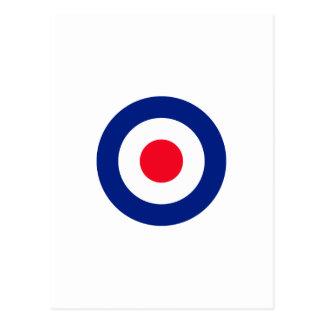 Roundel Target Symbol Graphic Postcard