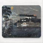 Rounding a Bend on the Mississippi Steamboat Mouse Pad