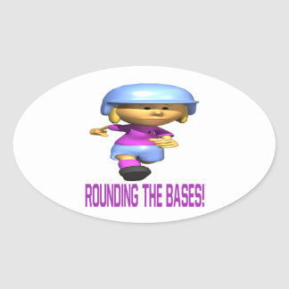 Rounding The Bases Oval Sticker
