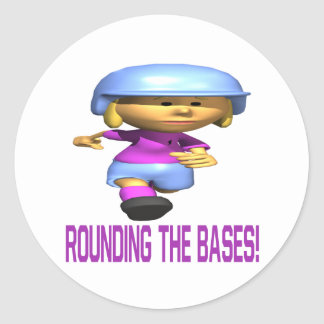 Rounding The Bases Round Sticker