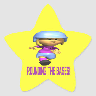 Rounding The Bases Star Sticker